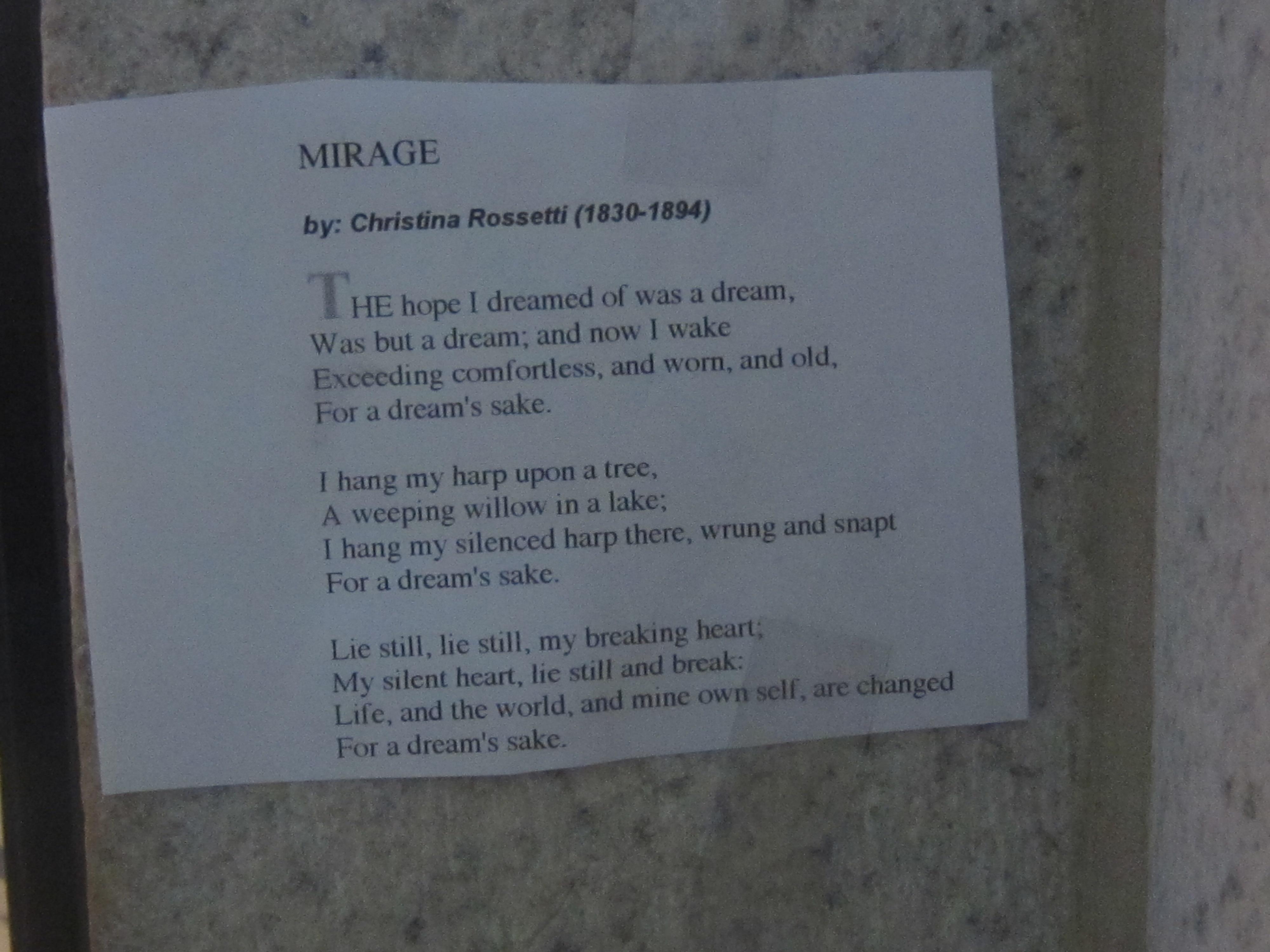 birthday by christina rossetti essay