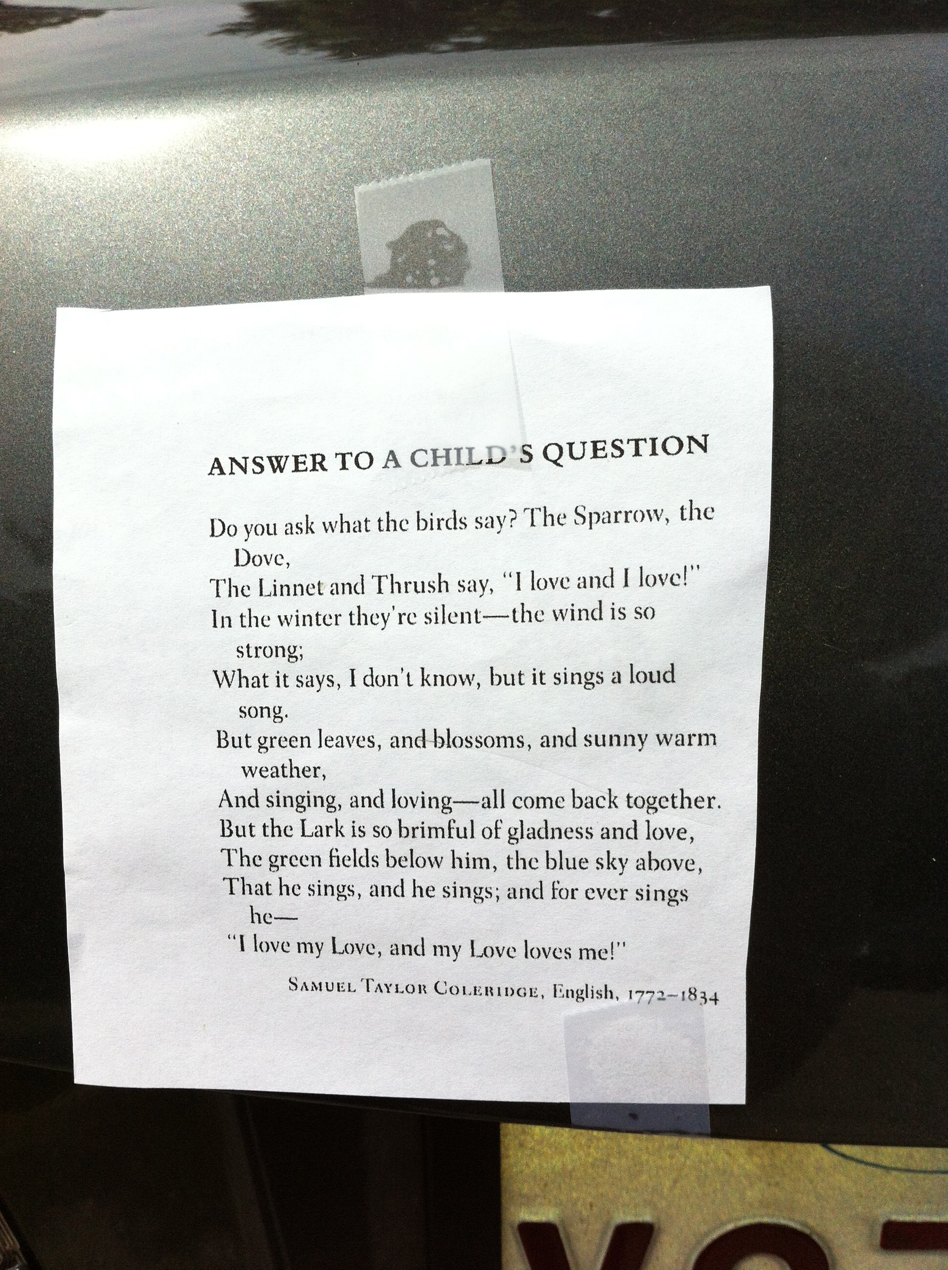 Answer to a Child's Question | Poem Elf