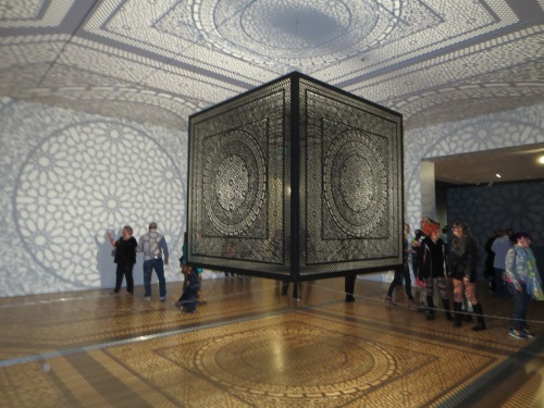 """Intersections"" by Anila Quayyum Agha at the Grand Rapids Art Museum. So beautiful!"